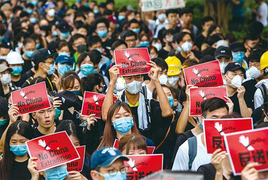 中共在香港倒行逆施的「反動行動」