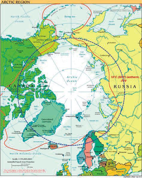 美國的格陵蘭和中共的北極