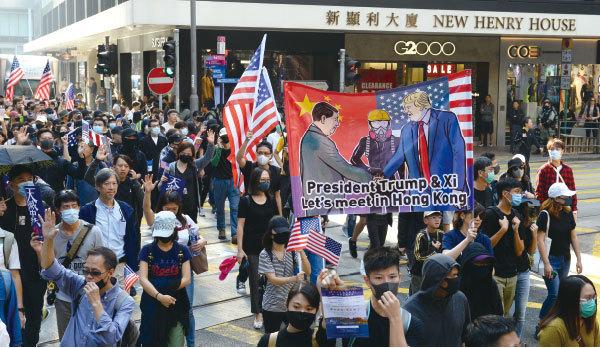 美國立法保護香港 中美決戰在港拉開序幕