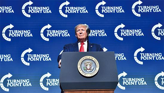 >特朗普反對社會主義宣告重建美國並幫助重建新中國