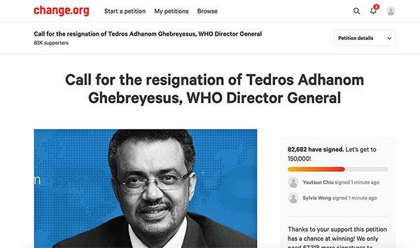 【隱瞞與破壞】中共蠶食聯合國 全球連署罷免世衛祕書長譚德塞