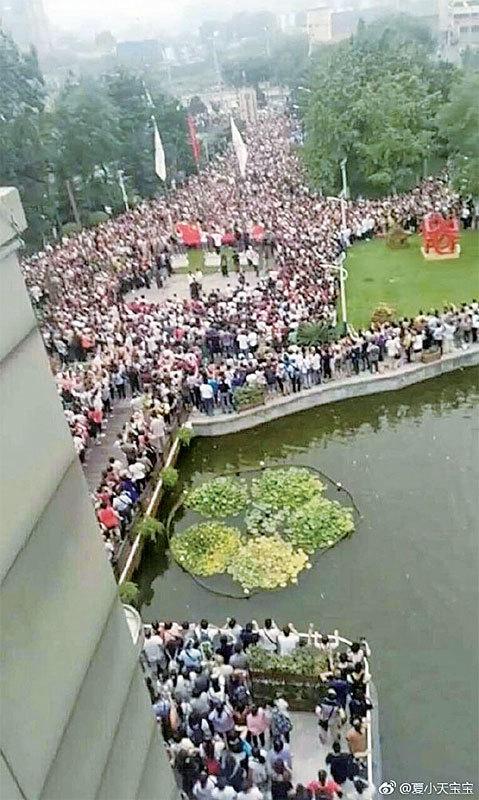 北京爆近年最大抗議 善心匯數萬人示威