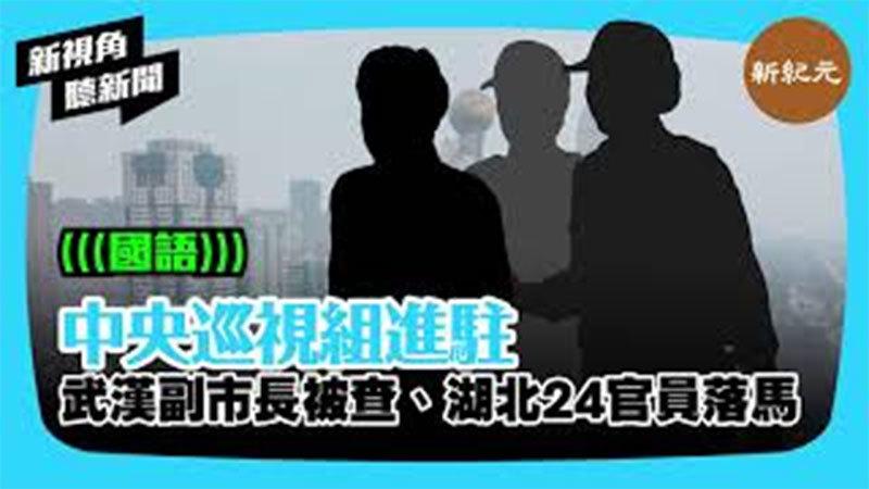 【新視角聽新聞 #292】中央巡視組進駐 武漢副市長被查 湖北24官員落馬