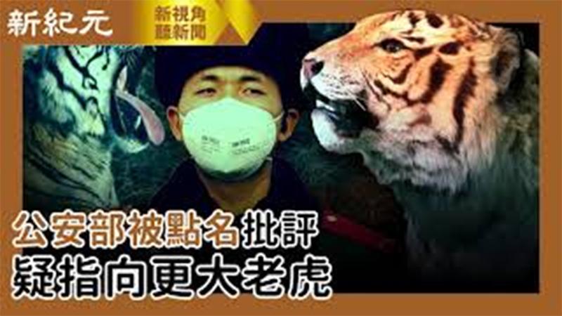 【新視角聽新聞 #548】公安部被點名批評 疑指向更大老虎