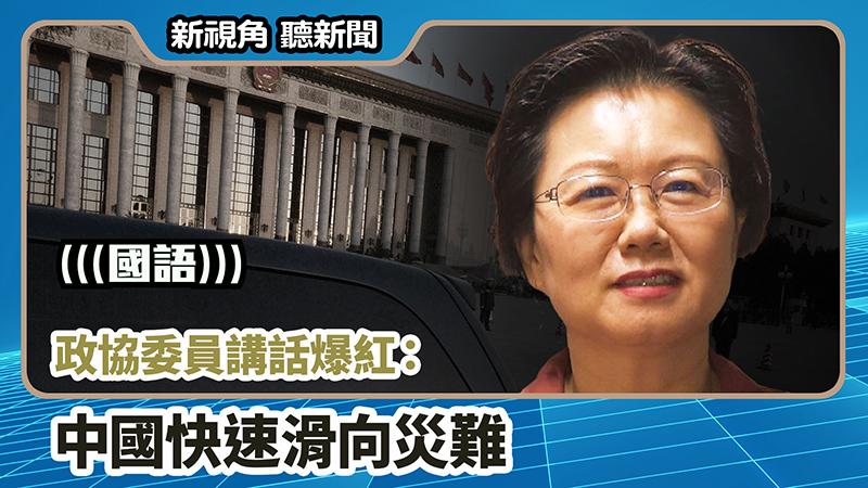 【新視角聽新聞 #736】政協委員講話爆紅:中國快速滑向災難