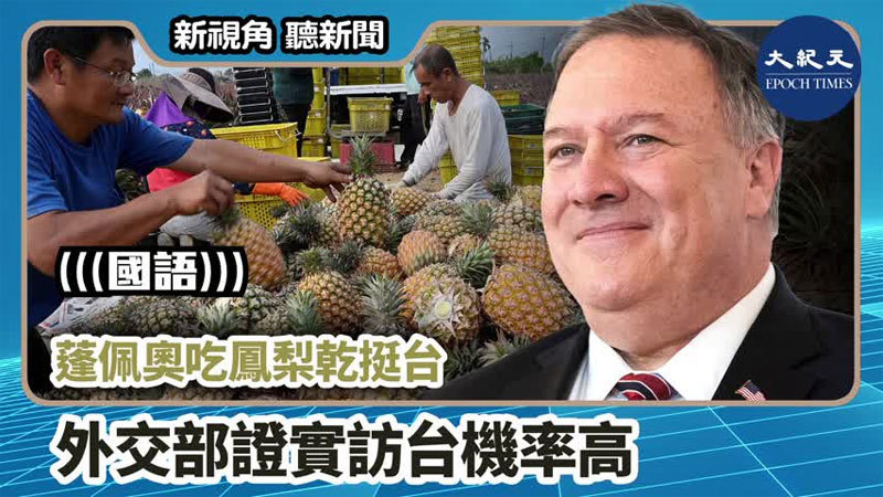 >【新視角聽新聞 #773】蓬佩奧吃鳳梨乾挺台 外交部證實訪台機率高