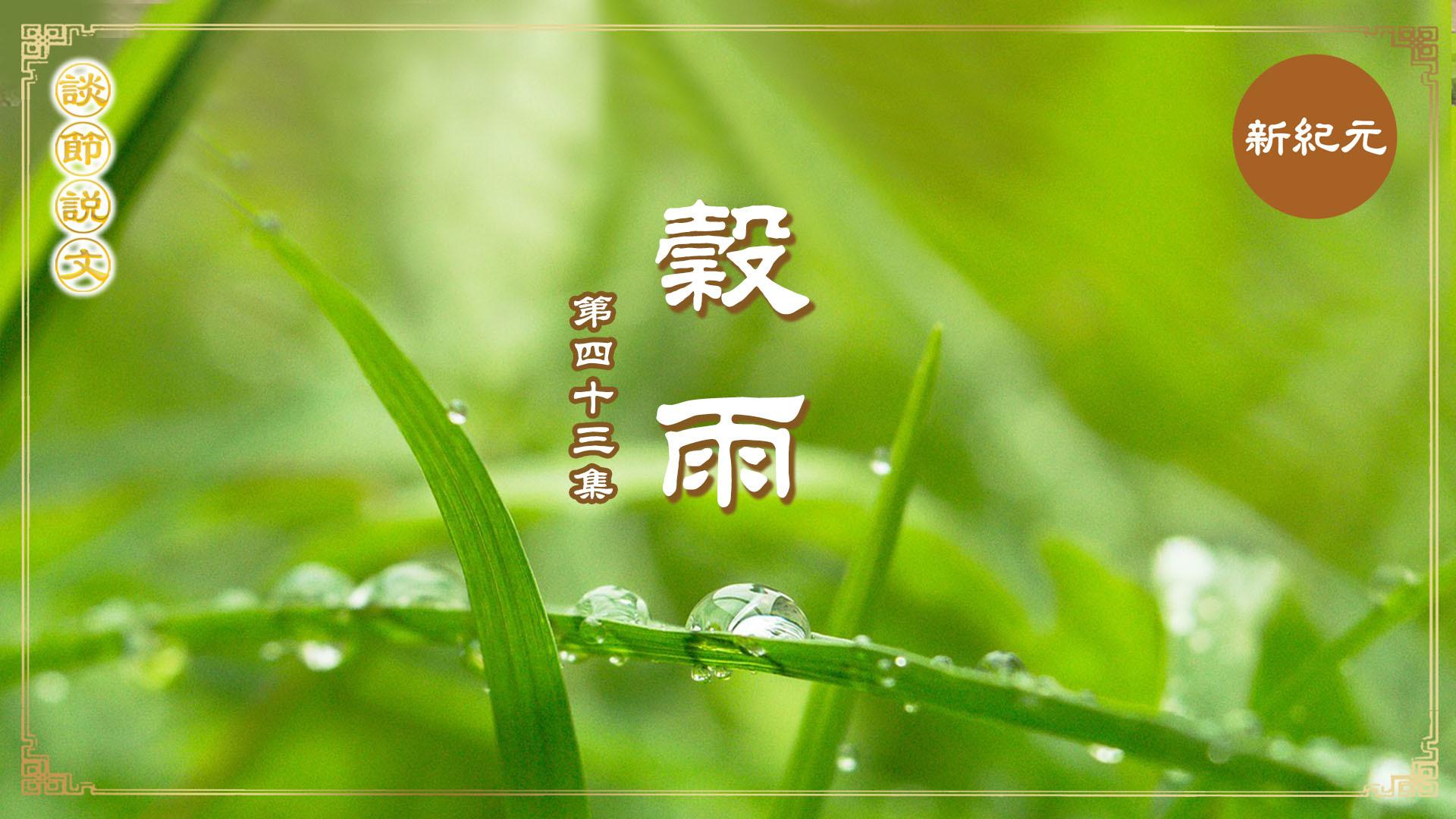 >《談節說文》穀雨時節養生 健脾化濕安神(第四十三集)|#新紀元