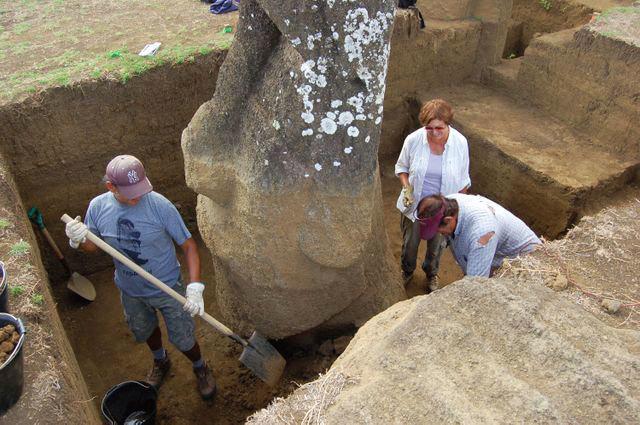 復活節島石像是不是人類建造的?