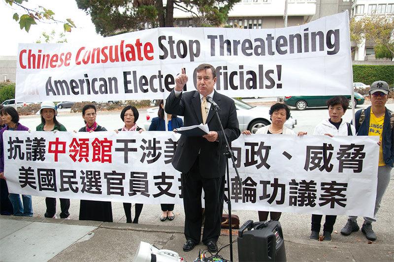 中領館干擾加州參院10號決議 違反國際準則
