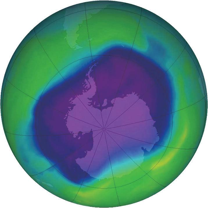 >南極臭氧洞縮至三十年來最小