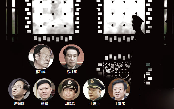 落馬七上將關係揭祕 71隻「軍虎」都是誰?