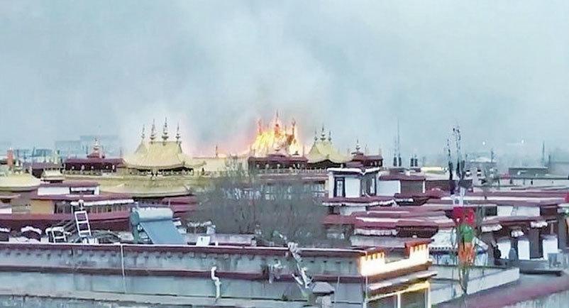 大昭寺被燒2小時 僧侶斥中共謊言 曝佛像恐遭損毀
