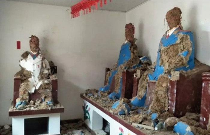 河南毛澤東紀念堂被砸 十多座塑像全毀