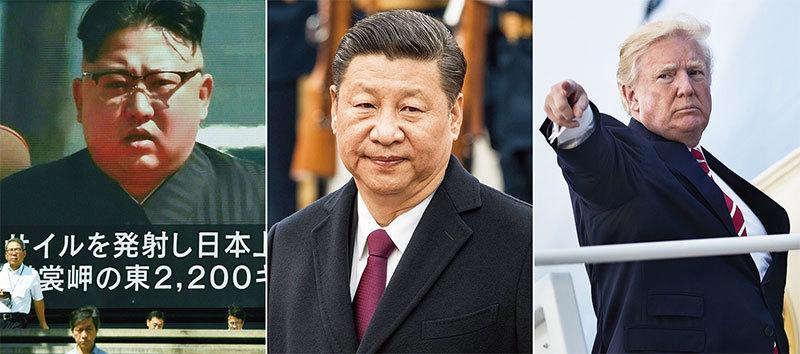 金正恩變臉 川普點名習近平 不惜開戰解決朝核
