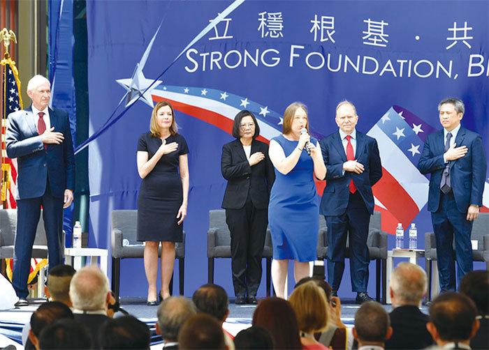 美國在臺協會新館落成 加強軍事保護臺灣