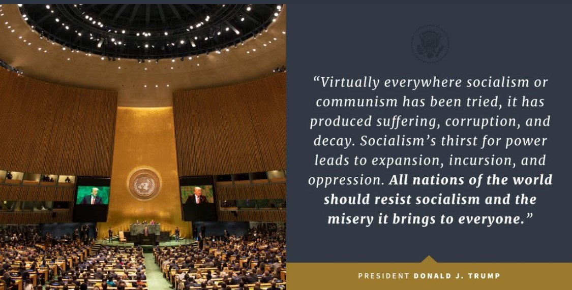 川普聯合國演講:世界都應抵制社會主義