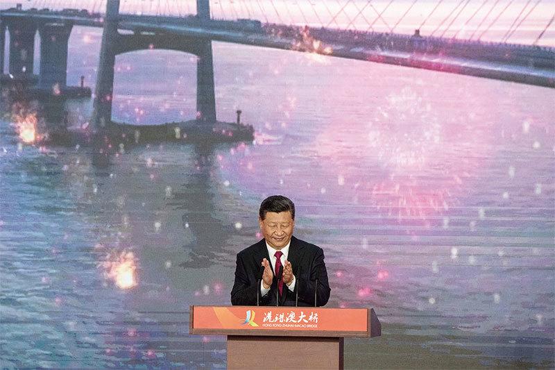 >港珠澳大橋開通 習近平全程只講一句話