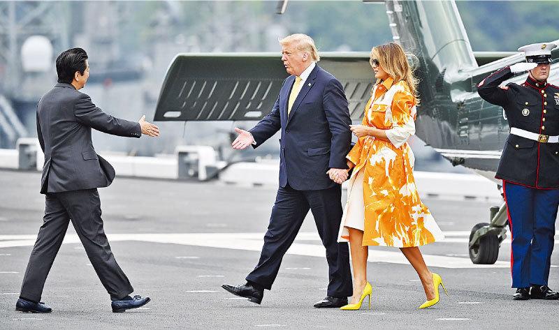 特朗普訪日 展示「美日同盟牢不可破」