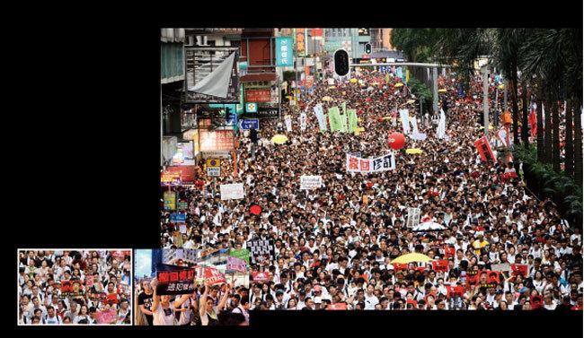 破記錄 百萬香港人反逃犯條例大遊行震驚全球