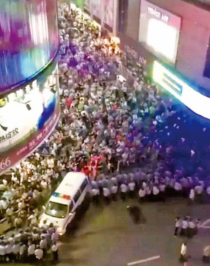 數千商住業主三次遊行 抗議上海耍流氓